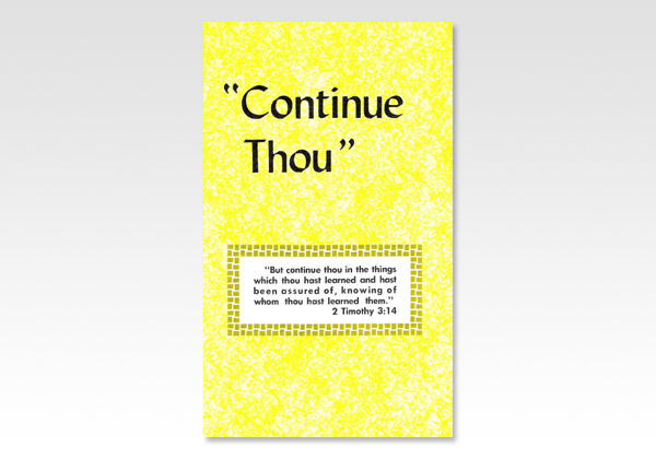 Continue Thou JND 1319