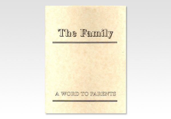 Family A Word to Parents GHH 1329