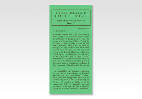 Letter on the Body of Christ 3
