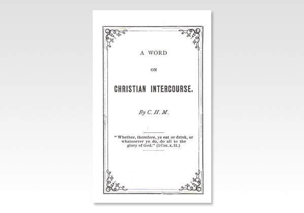 Word on Christian Intercourse CHM 1318