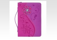Bible-Cover-(XL)-Pink-Daisy-Filled-with-Joy