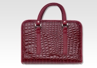 burgundy faux alligator bible cover